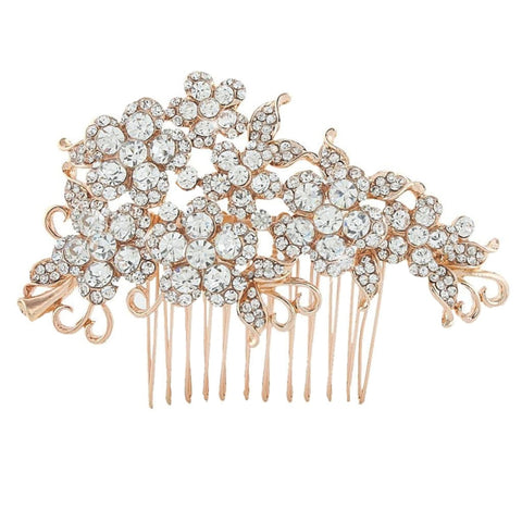 Violet Crystal Hair Comb Available in Gold, Rose Gold & Silver