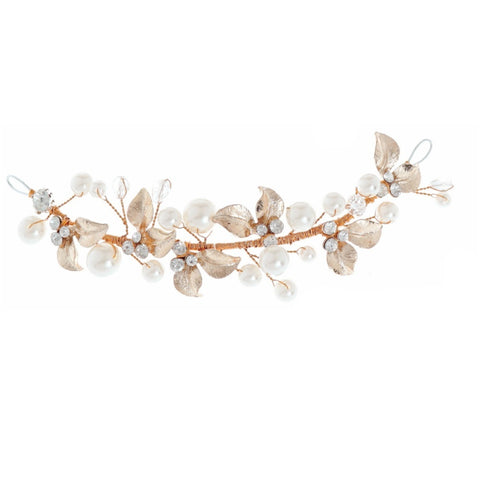 Annabelle Crystal and Pearl Hair Vine