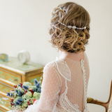 Rose Gold Crystal Hair Vine ideal for brides and bridesmaids