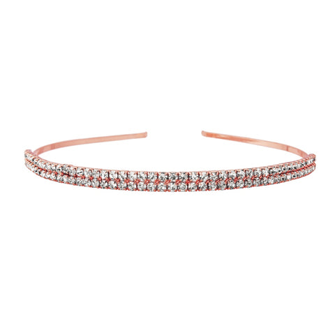 Gemma Double Row Crystal Headband