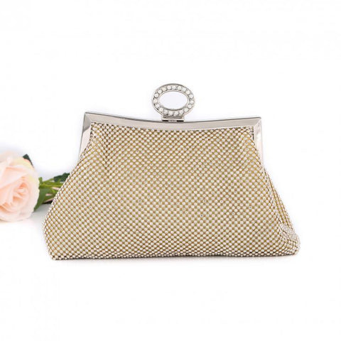 Ayida Gold Evening Clutch Bag