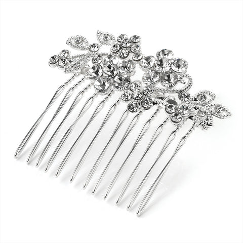 Daisy Elegance Crystal Flower Hair Comb