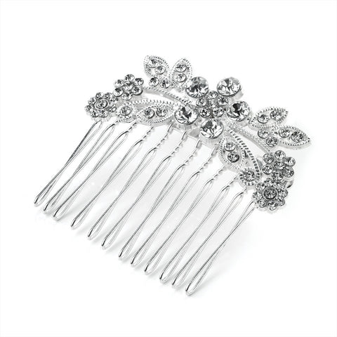 Daisy Crystal Flower Spray Hair Comb