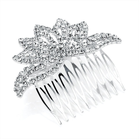 Crystal Crown Hair Comb