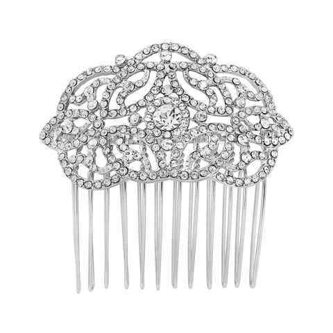 Holly Crystal Hair Comb available in Rose Gold, Gold & Silver