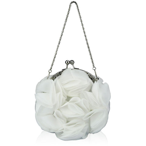 Joselyn Ivory Crystal Frame Clutch Bag