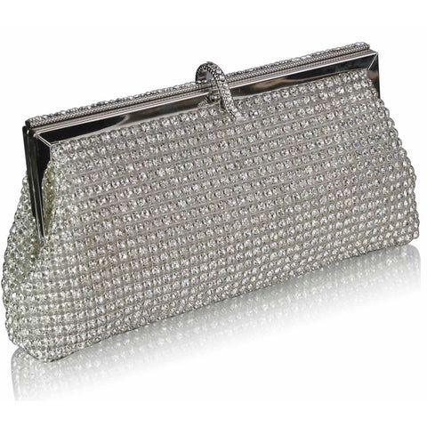 Farrah Crystal Encrusted Clutch
