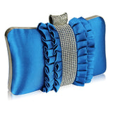 Payton Satin and Crystal Clutch Handbag