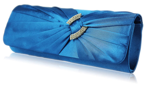 Elaine Satin and Crystal Clutch Handbag