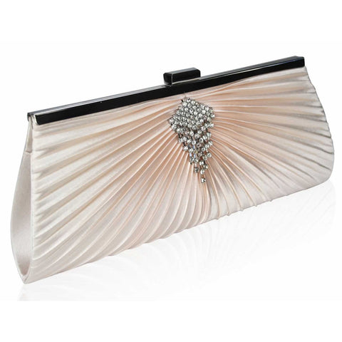 Savannah Luxury Satin Clutch Handbag