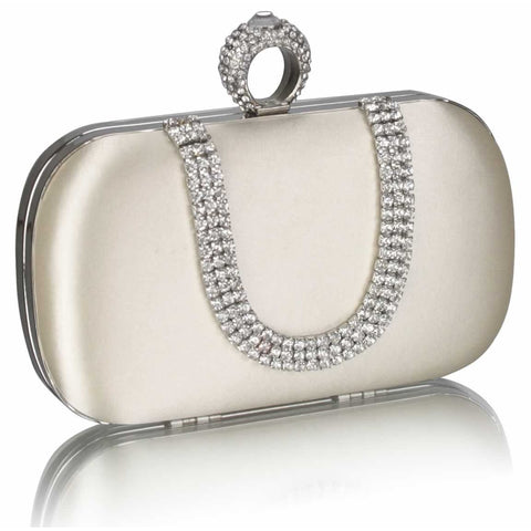 Nerissa Satin and Crystal Clutch Handbag