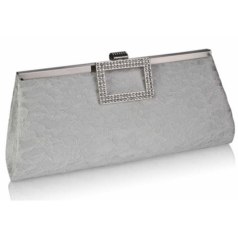 Uma Lace and Crystal Clutch Bag