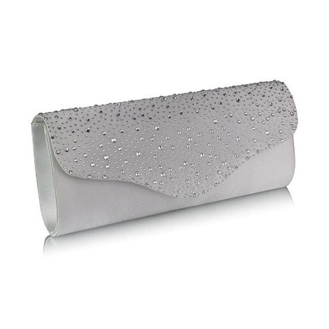 Emelia Crystal and Satin Clutch Bag