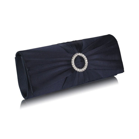 Ramona Satin and Crystal Clutch Handbag