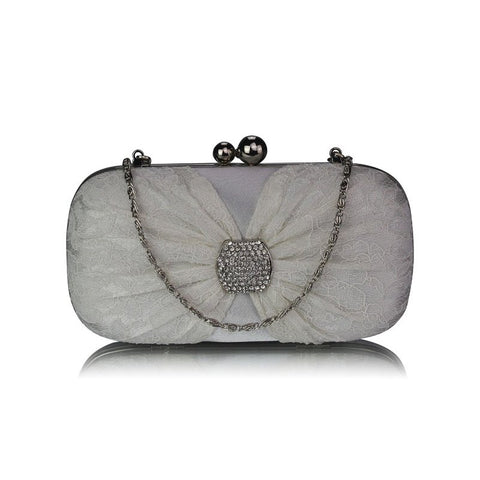 Harley Ivory Lace Clutch