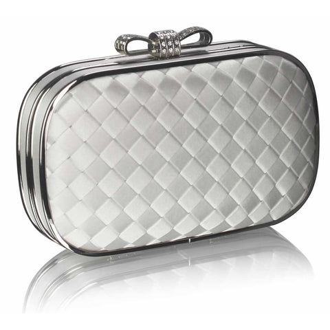 Danette Ivory Crystal Encrusted Clutch
