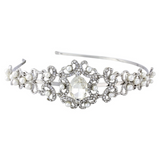 Louise Crystal and Pearl Headband