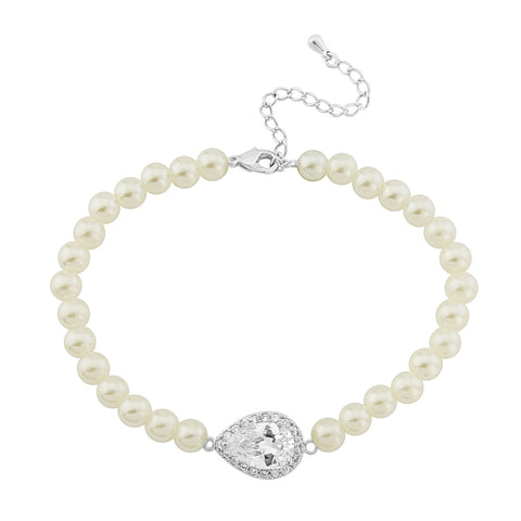 Malinda Pearl  and Crystal Bracelet