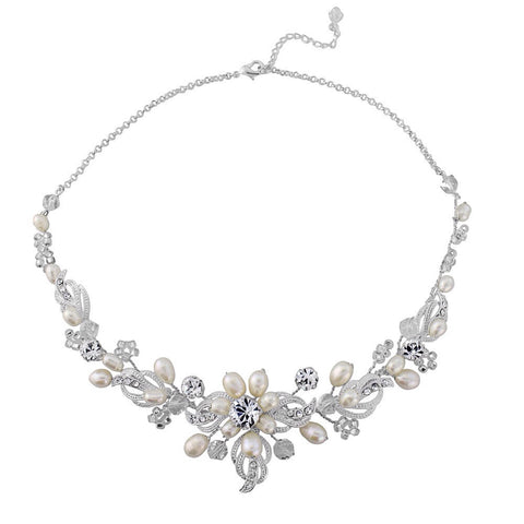 SassB Isabelle Crystal and Pearl Necklace Set