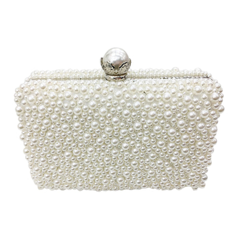 Beatrice Ivory Pearl Evening Clutch Bag