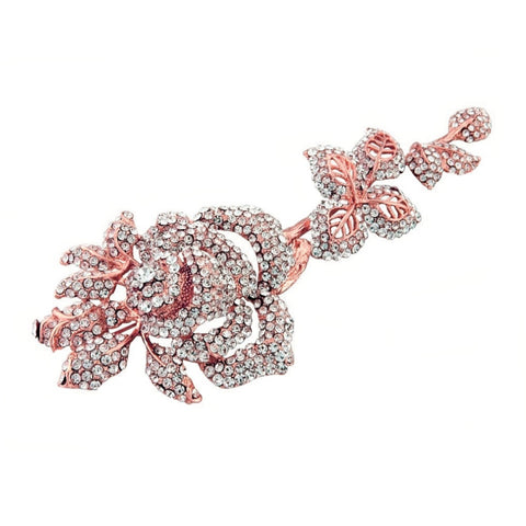 Rose Crystal Brooch