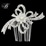 SassB Ellie Crystal and Pearl Hair Comb