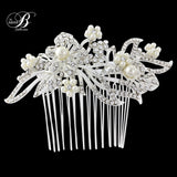 SassB Lily Crystal and Pearl Hair Comb