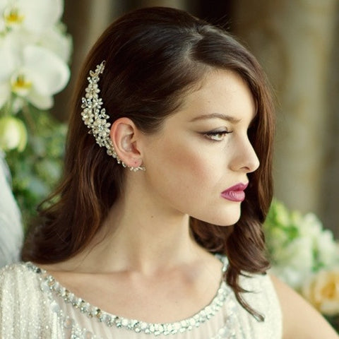SassB Chloe Pearl and Crystal Hair Comb