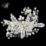SassB Ophelia Crystal and Pearl Hair Comb