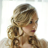 SassB Caroline Crystal Tiara Available in Silver and Gold