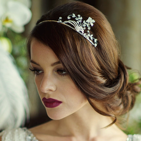 ***SALE*** Eliza Crystal Side Tiara