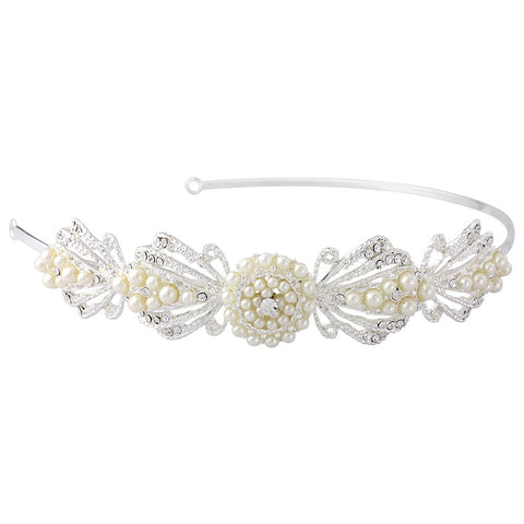 SassB Estelle Pearl Side Tiara