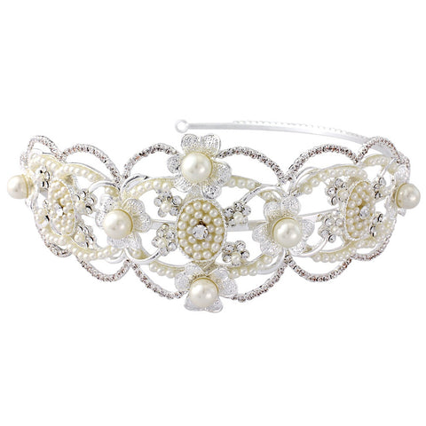 SassB Harriet Pearl Side Tiara