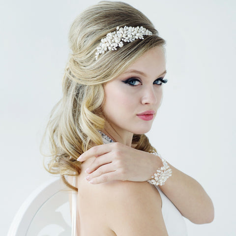 SassB Bessie Pearl and Crystal Hair Band