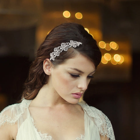 SassB Marion Crystal Hair Band Tiara