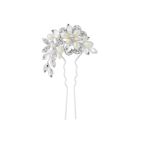 SassB Marcia Crystal and Pearl Hair Pin
