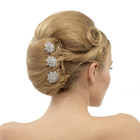 Zoe Set of 3 Crystal Hair Pins