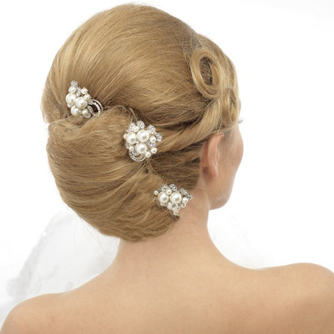 Phoebe Crystal and Pearl Hair Pin