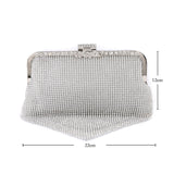 Connie Silver Evening Clutch Bag