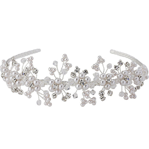 Jaime  Pearl and Crystal Headband