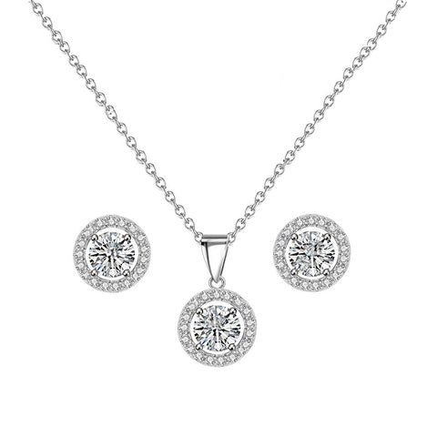 Valentina Crystal Necklace and Earring Set