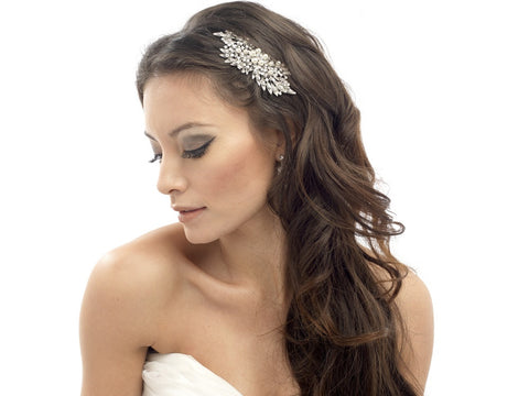 Cora Crystal & Pearl Flower Hair Comb