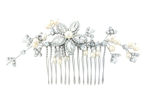 Anna Pearl and Crystal Hair Comb
