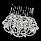 Holly Crystal and Pearl Hair Comb
