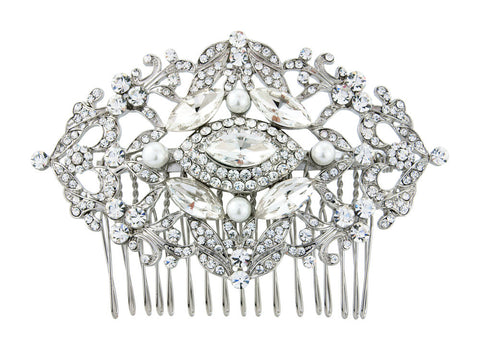 Alana Pearl and Crystal Hair Comb