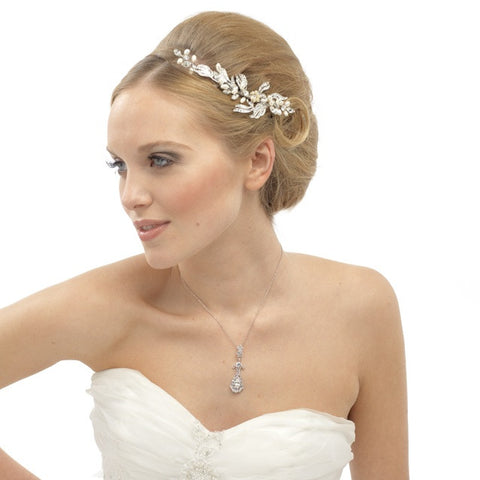 Caroline Crystal and Pearl Hair Comb