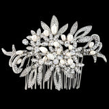 Julia Crystal and Pearl Hair Comb
