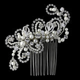 Eva Pearl and Crystal Hair Comb