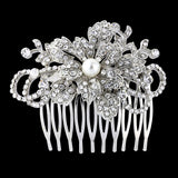 Imogen Crystal and Pearl Hair Comb