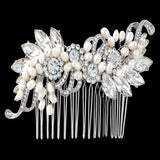 Bridget Pearl and Crystal Hair Comb